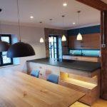 Küche Eiche Massiv Tisch und Arbeitsfläche
